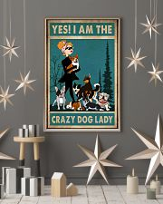 dog crazy dog lady poster 24x36 Poster lifestyle-holiday-poster-1