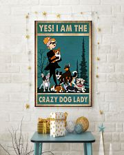 dog crazy dog lady poster 24x36 Poster lifestyle-holiday-poster-3