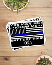 police i ve got your 6 sticker Sticker - 6 pack (Horizontal) aos-sticker-6-pack-horizontal-lifestyle-front-07