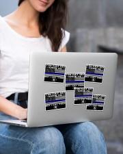 police i ve got your 6 sticker Sticker - 6 pack (Horizontal) aos-sticker-6-pack-horizontal-lifestyle-front-14