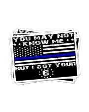 police i ve got your 6 sticker Sticker - 6 pack (Horizontal) front