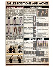Ballet postitions and moves 16x24 Poster front
