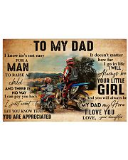 motocross daughter to my dad lqt ntv 24x16 Poster front
