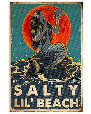 mermaid salty lil beach poster 11x17 Poster front