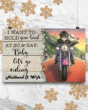 Biker Cat hold your hand custom pt lht ngt 17x11 Poster aos-poster-landscape-17x11-lifestyle-30