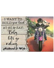 Biker Cat hold your hand custom pt lht ngt 17x11 Poster front