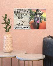 Biker Cat hold your hand custom pt lht ngt 17x11 Poster poster-landscape-17x11-lifestyle-21