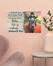 Biker Cat hold your hand custom pt lht ngt 17x11 Poster poster-landscape-17x11-lifestyle-22