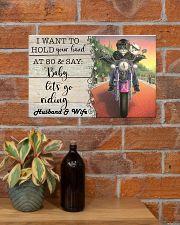Biker Cat hold your hand custom pt lht ngt 17x11 Poster poster-landscape-17x11-lifestyle-23