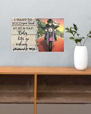 Biker Cat hold your hand custom pt lht ngt 17x11 Poster poster-landscape-17x11-lifestyle-24
