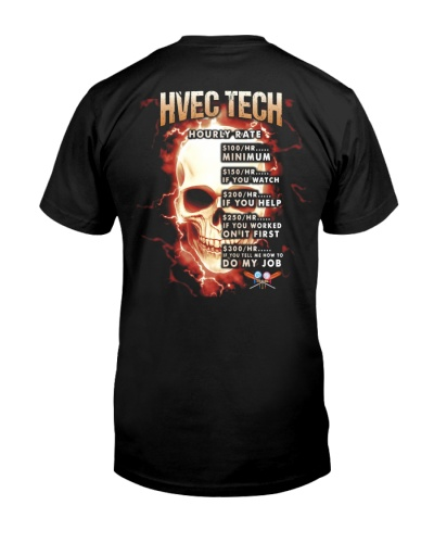 hvec tech hourly rate