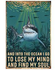 shark retro ocean find soul 11x17 Poster front