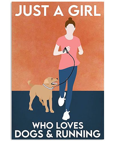 dog and running poster