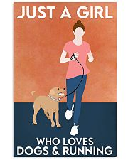dog and running poster 16x24 Poster front
