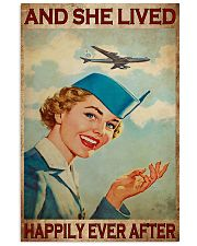 flight attendant girl happily poster 11x17 Poster front