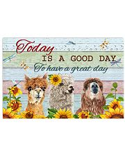 Alpaca today is a good day 17x11 Poster front
