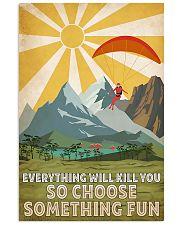 paraglidding girl choose something fun 11x17 Poster front