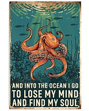 octopus retro ocean find soul 11x17 Poster front