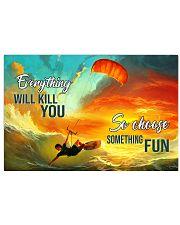 kitesurfing choose something fun pt hvhh NTH 17x11 Poster front