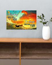 kitesurfing choose something fun pt hvhh NTH 17x11 Poster poster-landscape-17x11-lifestyle-24