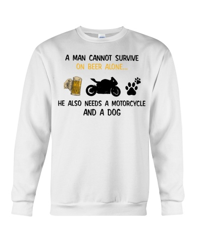 A Man Needs A Motorcycle And A Dog On Beer
