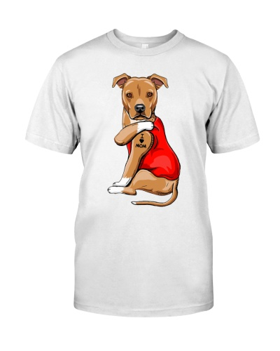 staffordshire terrier I love mom