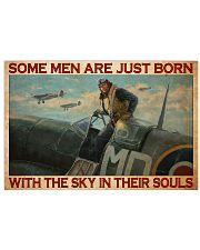 pilot men ryls airfrc born sky pt phq NTH 17x11 Poster front