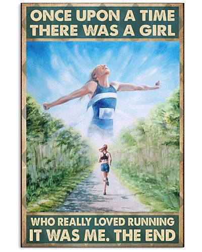 running girl once upon a time poster
