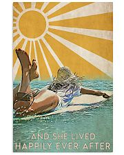 girl surfing sun happily poster 11x17 Poster front
