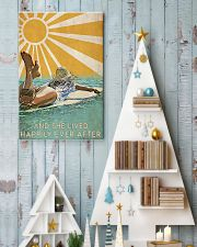 girl surfing sun happily poster 11x17 Poster lifestyle-holiday-poster-2