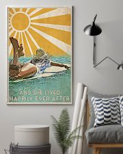 girl surfing sun happily poster 11x17 Poster lifestyle-poster-1
