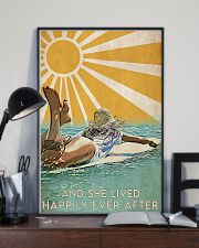 girl surfing sun happily poster 11x17 Poster lifestyle-poster-2