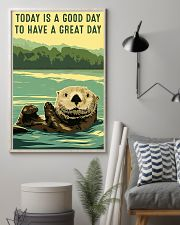 otter good day 11x17 Poster lifestyle-poster-1
