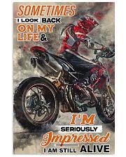 ducat biker look back pt lqt cva 11x17 Poster front