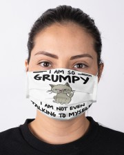 grumpy cat not talk to myshelf mas Cloth Face Mask - 3 Pack aos-face-mask-lifestyle-01