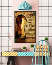 Horse Girl A horse is a best friend 16x24 Poster lifestyle-poster-6