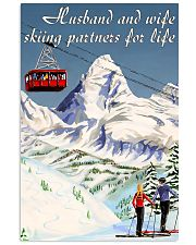 skiing partners for life mountain poster 11x17 Poster front