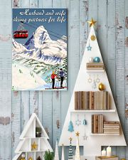 skiing partners for life mountain poster 11x17 Poster lifestyle-holiday-poster-2