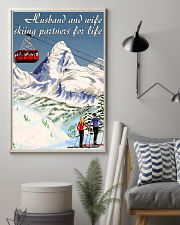skiing partners for life mountain poster 11x17 Poster lifestyle-poster-1