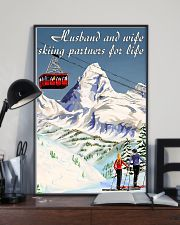skiing partners for life mountain poster 11x17 Poster lifestyle-poster-2