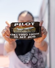 pilot getting high mas Cloth Face Mask - 3 Pack aos-face-mask-lifestyle-07