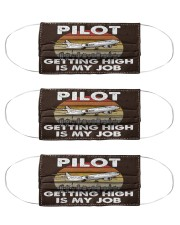 pilot getting high mas Cloth Face Mask - 3 Pack front