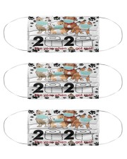 Dog 2020 Got Real pitbull Cloth Face Mask - 3 Pack front