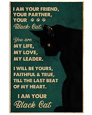 black cat I Am Your Friend Your Partner 11x17 Poster front