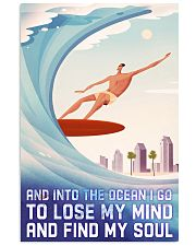 surfing retro lose my mind poster 11x17 Poster front