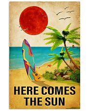 surfing here comes the sun 11x17 Poster front