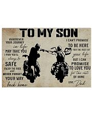 poster to son biker 36x24 Poster front