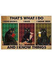 Black cat read book baking drink beer dvhh NGT 17x11 Poster front