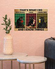 Black cat read book baking drink beer dvhh NGT 17x11 Poster poster-landscape-17x11-lifestyle-21