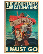 Mountaineering hiker moutains calling pt mttn nna 11x17 Poster front